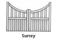 surrey wooden gates